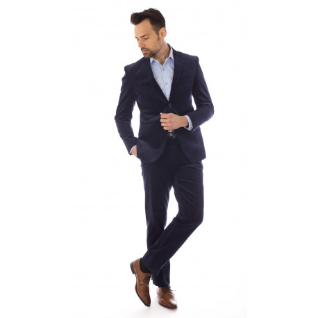 Costume Velour Bleu