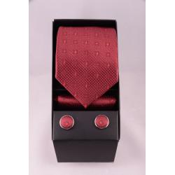 coffret cravate point bordeau