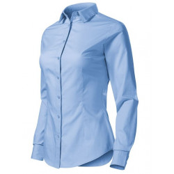 Chemise femme cintrée stretch bleu