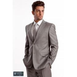 Cravatte en soie tissée Gris claire