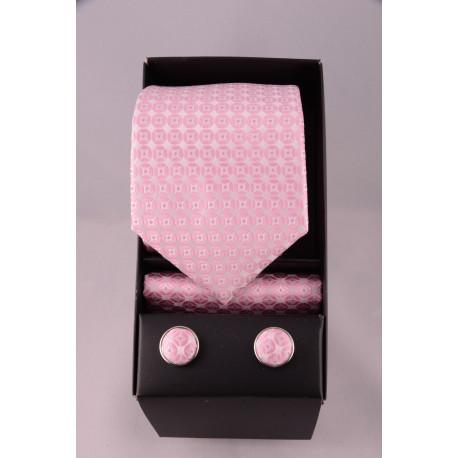 coffret cravate point rose