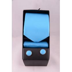 coffret cravate turquoise