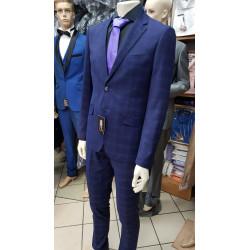 Costume à Carreaux violet bleu