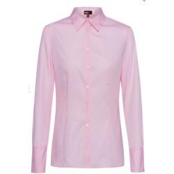 Chemise femme cintrée stretch rose