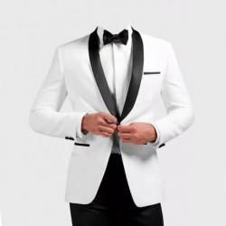 Smoking veste blanche et pantalons Noir